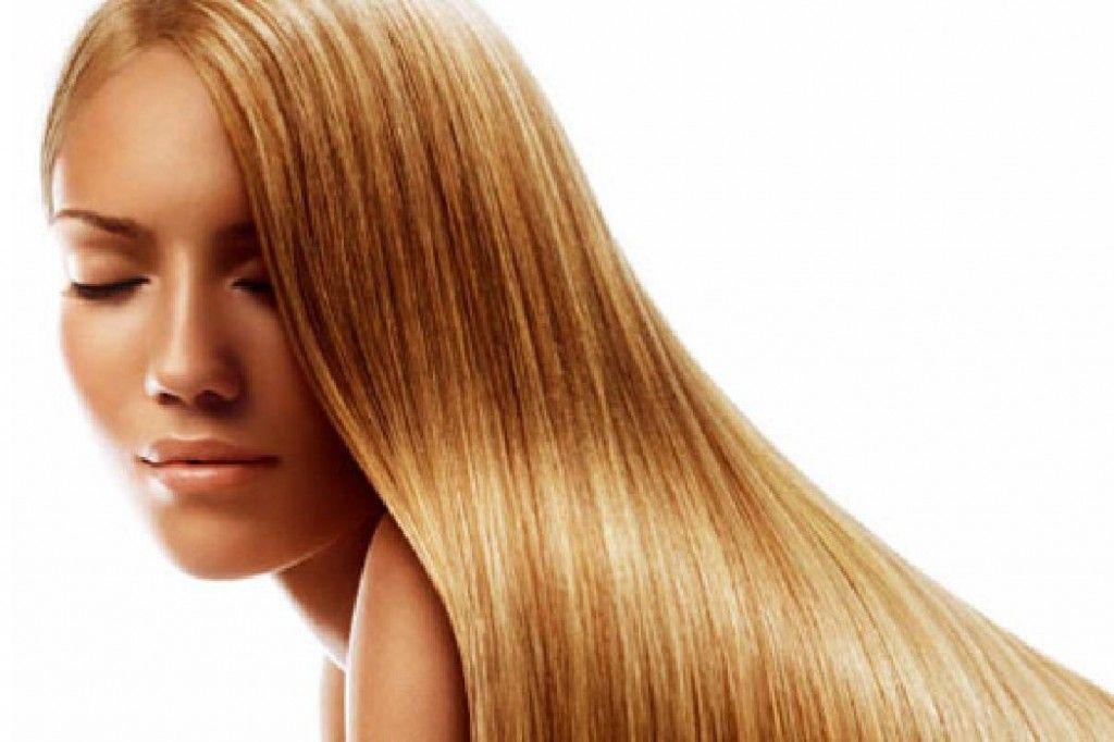 Blond długie włosy