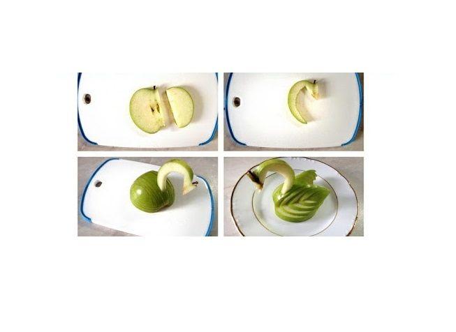 Jak wykonać łabędzia z jabłek