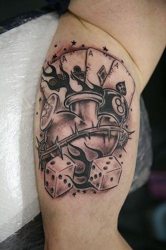 Kości I Karty Do Gry Tatuaż Pozostałe