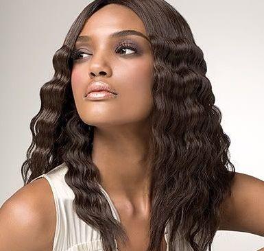 Kręcone włosy brązowe loki