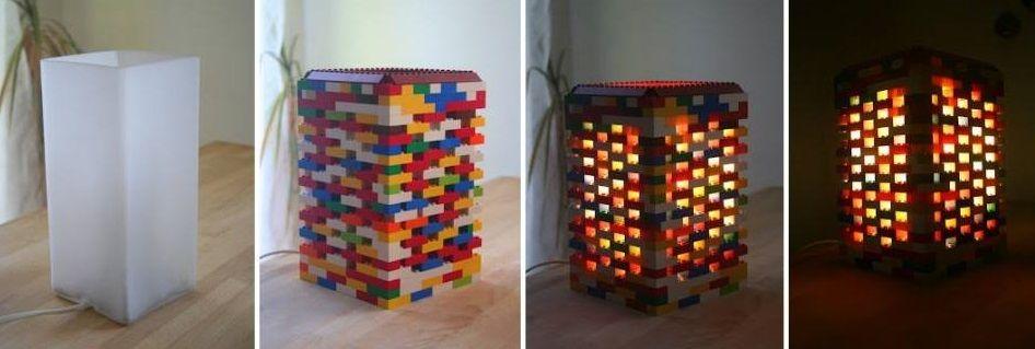 Lampka z klocków lego