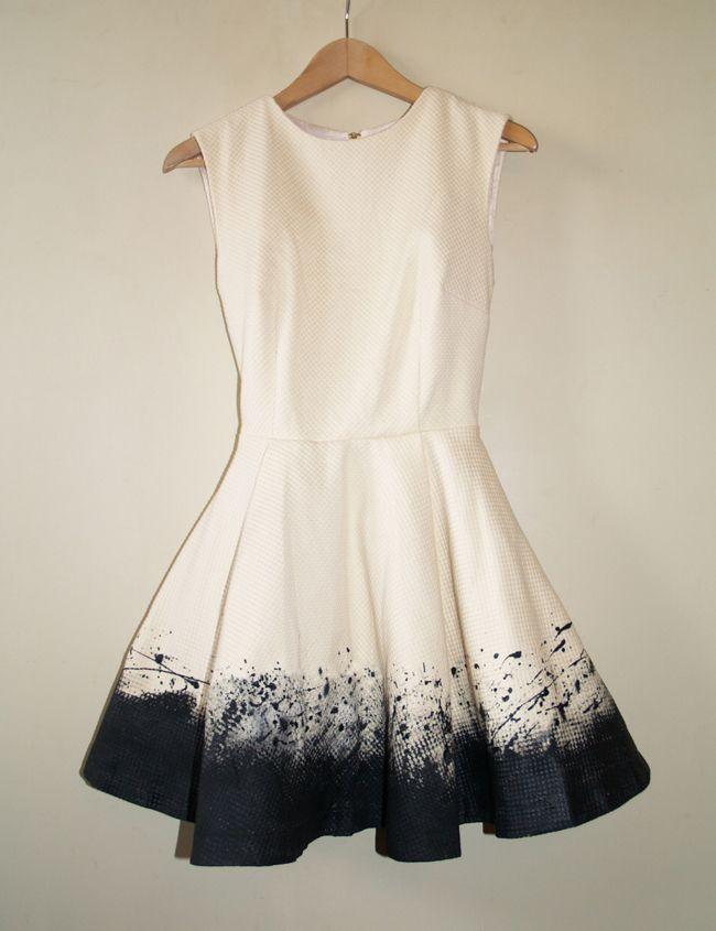 Sukienka biało-czarna