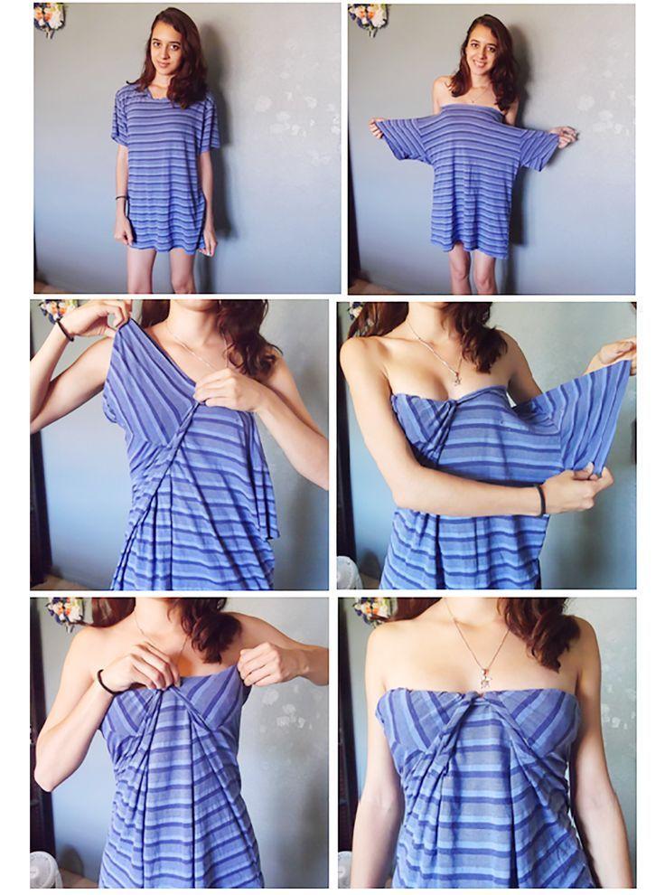 Sukienka z męskiej koszulki