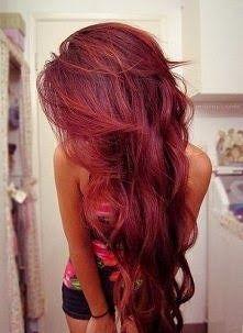 Czerwone Włosy Mega Długie Damskie