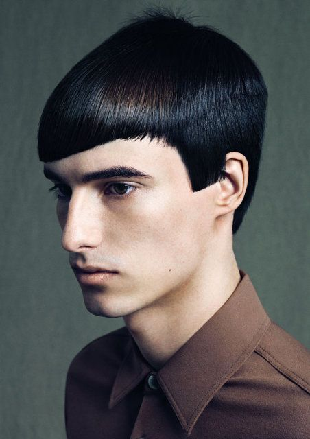 Czarne Włosy Fryzura Męska Męskie